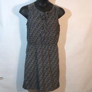 LOFT Ann Taylor Medium Dress Black White Lines